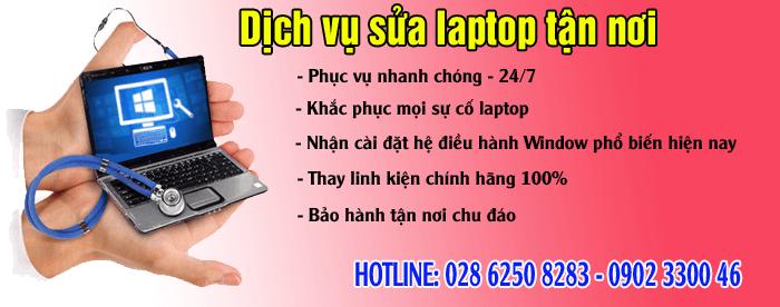sua laptop tan noi