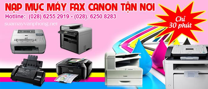 Nạp mực máy fax canon tận nơi giá rẻ