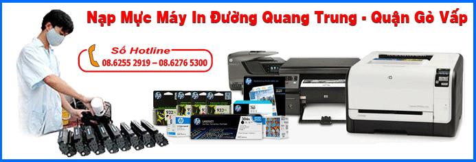 Nạp mực máy in đường Quang Trung - Quận Gò Vấp