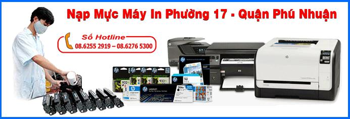 Nạp mực máy in phường 17 - Quận Phú Nhuận