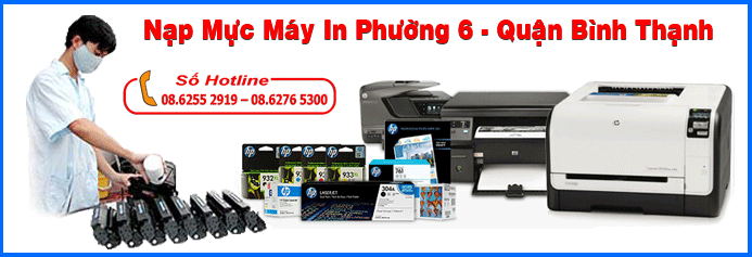 Nạp mực máy in phường 6 - Quận Bình Thạnh